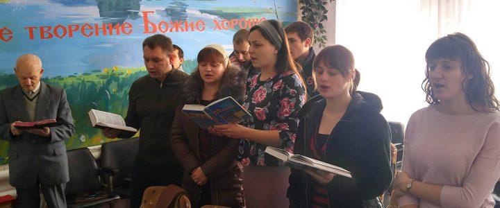 Посещение церкви в Великой Чернетчине